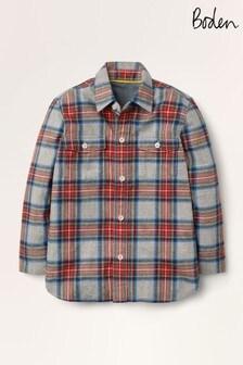 قميص رمادي مربعات مريح منBoden