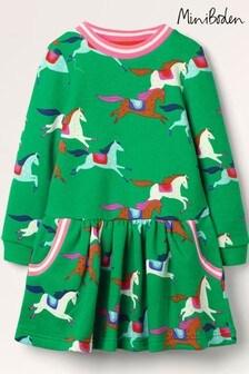 فستان أخضر مطبوع منBoden