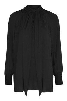 חולצה אלגנטית עם פפיון ושרוול בלוזון למידות גדולות שלLive Unlimited