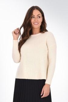 סוודר שמנת למידות גדולות שלLive Unlimited