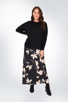 Live Unlimited Curve 2-In-1 Floral Dress With Jumper