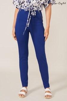 טייץ ג׳ינס כחול עם רוכסן כפול דגםAmina שלPhase Eight