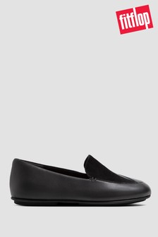 FitFlop™ Lena Lizard-Embossed Leather Loafers