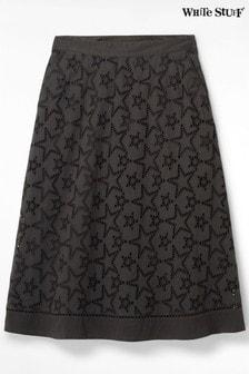 Серая юбка с вышивкой ришелье White Stuff Ira