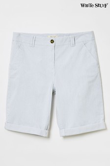 White Stuff Blue Helter Skelter Shorts