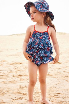 Tiered Ditsy Print Swimsuit (3mths-7yrs)