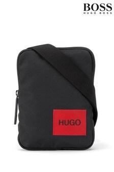 HUGO黑色Ethon拉鍊包