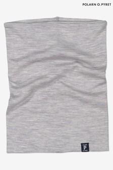 Polarn O. Pyret灰色柔軟RWS美麗諾保暖圍巾