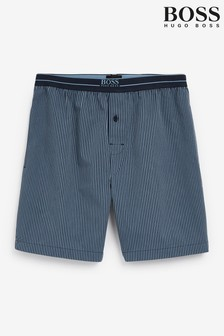 BOSS藍色都市睡衣短褲