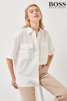 חולצה של BOSS דגםBawakine בלבן