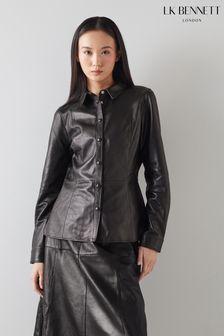 חולצת עור דגם Monmouth בצבע שחור של L.K.Bennett