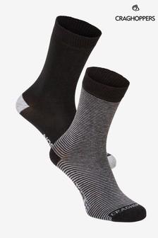 Craghoppers灰色Nlife襪子兩對裝