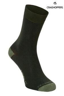 Craghoppers綠色Nlife襪子兩對裝