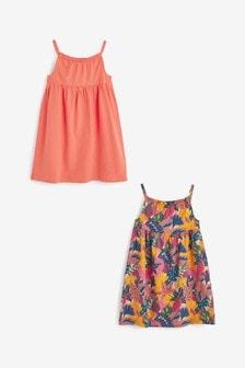 حزمة من 2 فستان جيرسيه بدون كم (3-16 سنة)