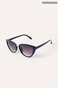 Niebieskie okulary przeciwsłoneczne Monsoon Charlie w kształcie oczu kota