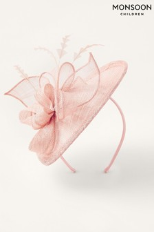 Monsoon Pink Bow Small Disc Fascinator Headband