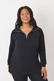 Live Unlimited Curve Black Half Zip Sweatshirt
