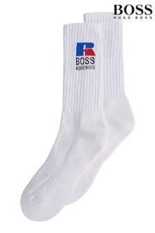 BOSS 白色 x Russell 運動襪