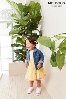 Monsoon黃色嬰兒裝雪糕圖案2合1連衣裙