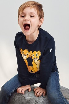 Polarn O. Pyret Blue Organic Cotton Disney The Lion King Simba Print Sweatshirt