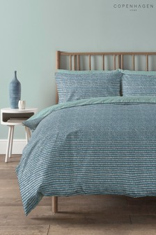 Copenhagen Home Blue Arri Duvet Cover and Pillowcase Set