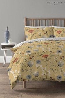 Copenhagen Home Yellow Olia Duvet Cover and Pillowcase Set