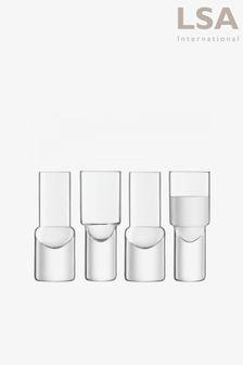 LSA International Vodka 50ml Set Of 4 Shot Glasses
