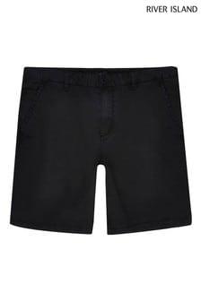 River Island Black Casual Chino Shorts