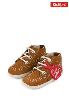 Kickers Brown Kick Crib Boots