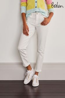 Boden White Girlfriend Jeans