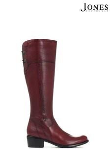 Красные высокие кожаные сапоги Jones Bootmaker