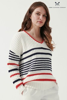 Crew Clothing Company Natural Bucket Sweater