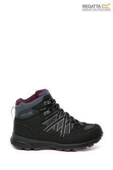 Серые женские походные ботинки средней высоты Regatta Samaris Mid II