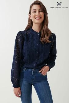 חולצה של Crew Clothing Company דגם Broderie בבז'