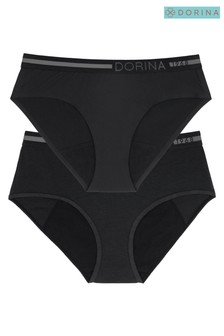 DORINA Black Day and Night Period Pants 2 Pack