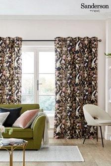 Black Sanderson At Next Caverley Eyelet Lined Curtains