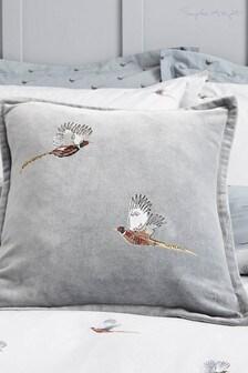 Sophie Allport藍色飛鳥圖案靠墊