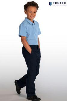 Trutex Junior Boys Navy Classic Fit School Trousers