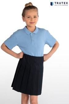 Trutex Navy Junior Stitch Down Pleat Skirt
