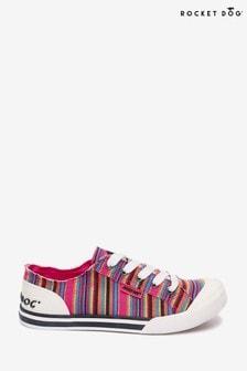 Rocket Dog Pink Jazzin Aloe Cotton Trainers