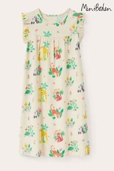 Boden White Printed Short Sleeved Nightie