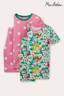 Boden Pink Twin Pack Snug Short Pyjamas