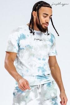 Hype. Mens White Tie Dye Scribble Logo T-Shirt