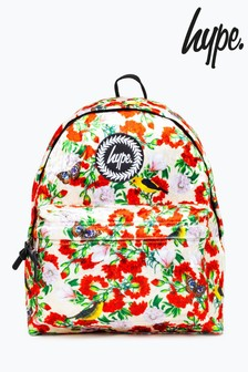 Hype. Floral Velour Backpack