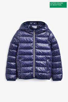 Benetton Printed Puffer Coat