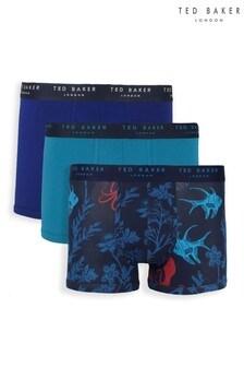 حزمة من3ملابس داخلية بوكسر قطن مواكبة للموضة منTed Baker
