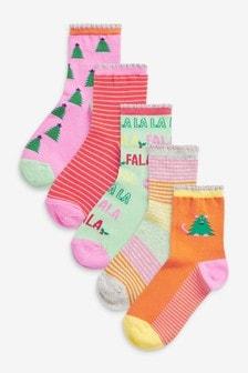 Lot de 5 paires de chaussettes de Noël