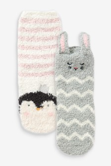 2 Pack Cosy Character Socks