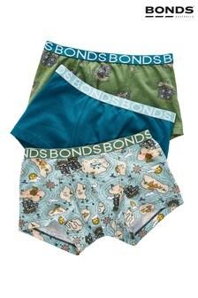 Bonds グリーン ボーイズ ボクサーブリーフ 3 枚パック