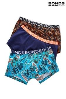 Bonds Blue Boys Trunks 3 Pack
